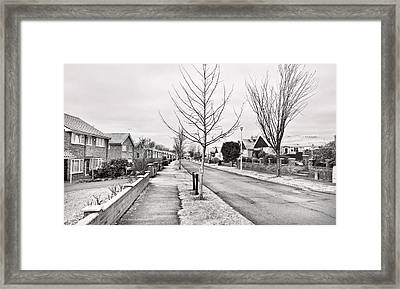 Residential Street Framed Print by Tom Gowanlock