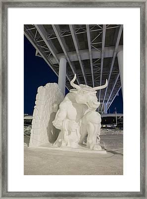 Residing Below A Bridge Framed Print by Tim Grams