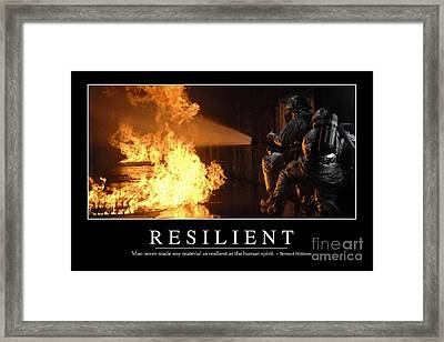 Resilient Inspirational Quote Framed Print