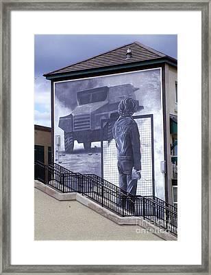 Derry Mural Resistance Framed Print