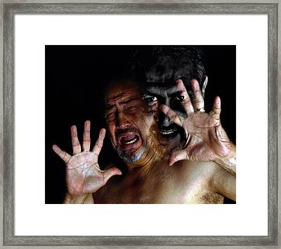 Resisting The Dark Side Framed Print by Camille Lopez