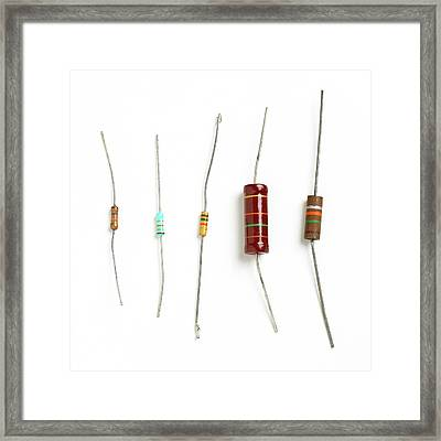 Resistors Framed Print by Science Photo Library
