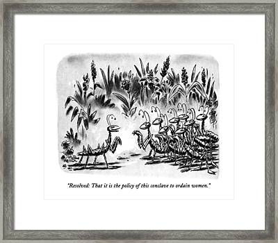Resolved: That It Is The Policy Of This Conclave Framed Print