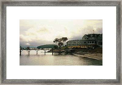 Framed Print featuring the photograph Resort In Bar Harbor by Judith Morris