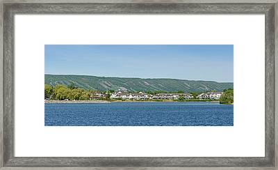 Resorts And Apartment Buildings Framed Print