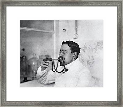 Respiratory Physiology Research Framed Print by National Library Of Medicine