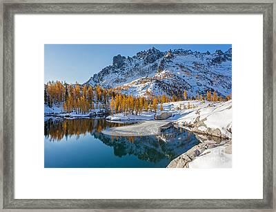 Resplendent Alpine Autumn Framed Print by Mike Reid