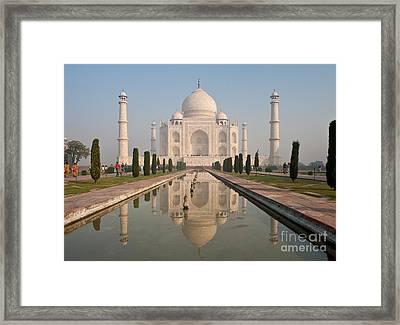 Resplendent Taj Mahal Framed Print by Mike Reid