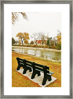 Framed Print featuring the photograph Rest A While In Ellis by Shirley Heier