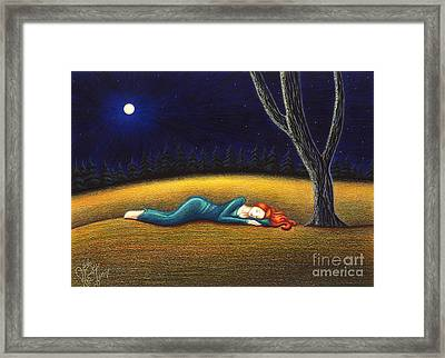 Rest For A Weary Heart Framed Print by Danielle R T Haney