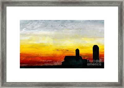 Rest For The Hard Working Framed Print by R Kyllo