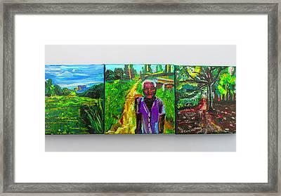 Rest In Peace - Uncle Momoh Framed Print