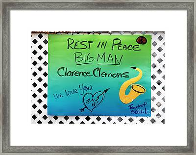 Rest In Peace Big Man Framed Print by John Rizzuto