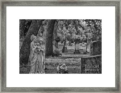 Rest In Peace-black And White Framed Print by Douglas Barnard