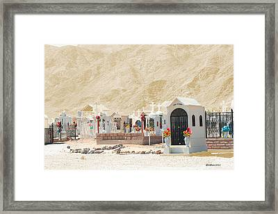 Framed Print featuring the photograph Rest In Peace by Dick Botkin