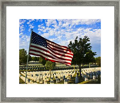 Rest In Peace Fort Snelling National Cemetery Framed Print by Wayne Moran