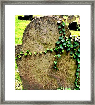 Framed Print featuring the photograph Rest In Peace by Mary Bedy