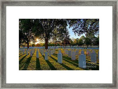 Rest In Peace Memorial Day Fort Snelling National Cemetery Framed Print