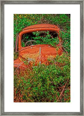 Rest In Peace My Sweet Renault Framed Print by Laurence Delderfield
