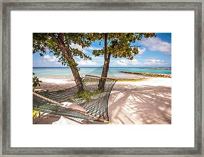 Rest In The Shadow Framed Print by Jenny Rainbow