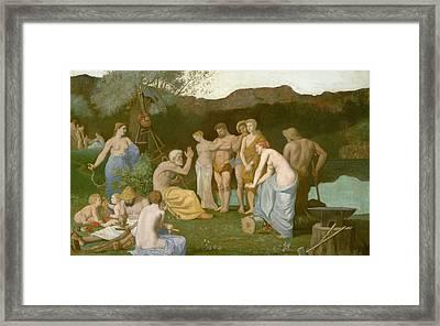 Rest Framed Print by Pierre Puvis de Chavannes