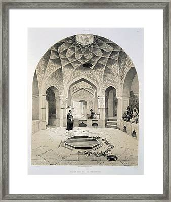 Rest Room Beside The Baths At Shemakha Framed Print by Grigori Grigorevich Gagarin