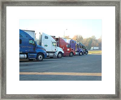 Rest Stop Roundup Framed Print