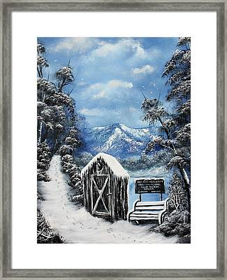 Rest Stop Framed Print by Russell  King