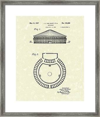Restaurant 1937 Patent Art Framed Print