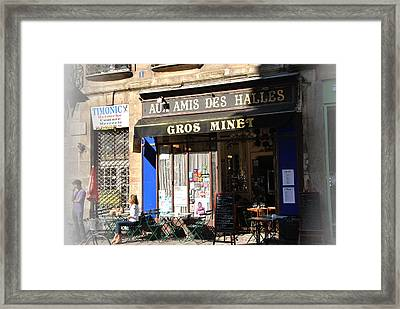 Restaurant Ambience Framed Print by Jacqueline M Lewis