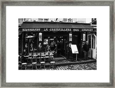 Restaurant In Montmartre Paris Framed Print by Georgia Fowler