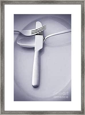 Restaurant Menu Concept Framed Print