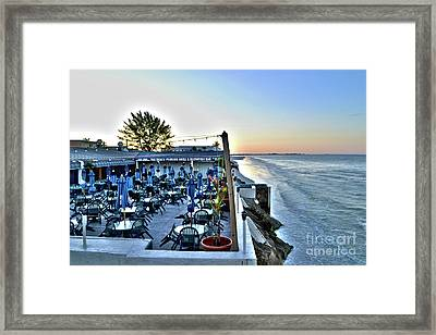 Restaurant On Fort Myers Beach Florida Framed Print