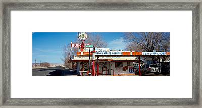 Restaurant On The Roadside, Route 66 Framed Print by Panoramic Images