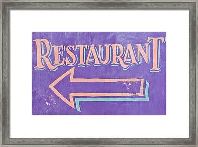 Restaurant Framed Print by Tom Gowanlock