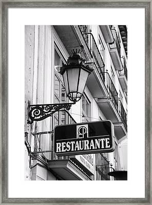 Restaurante Framed Print