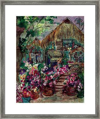 Restaurante Bougainville Framed Print