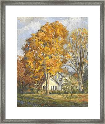 Restful Autumn Framed Print by Lucie Bilodeau