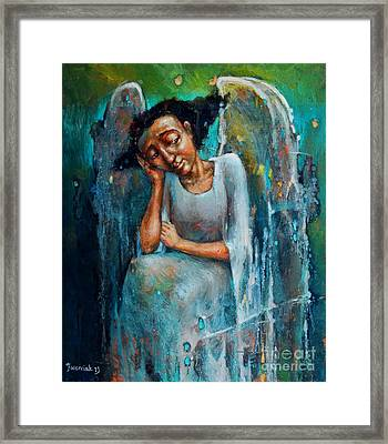 Resting Angel Framed Print by Michal Kwarciak