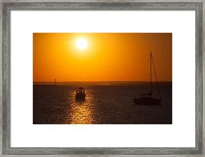 Resting Boats Framed Print
