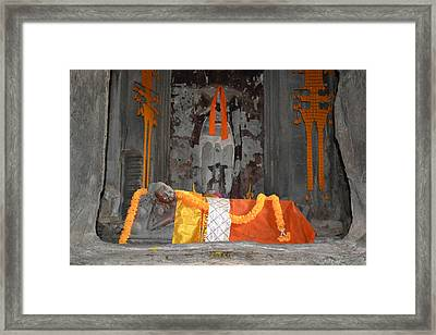 Resting Buddha Framed Print by Bill Mock