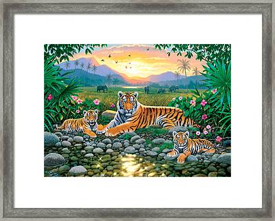 Resting By The Pool Framed Print by Chris Heitt