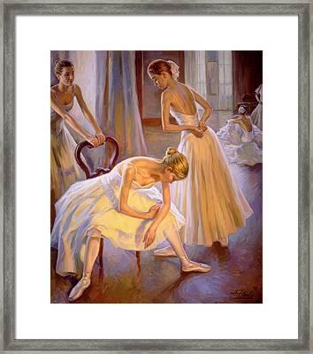 Resting Dancers Framed Print