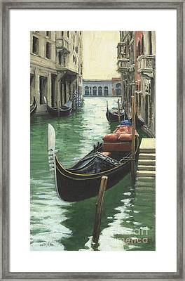 Resting Gondola Framed Print by Michael Swanson