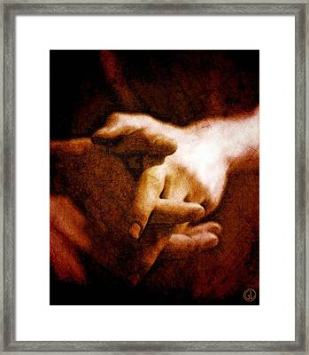 Resting Hands Framed Print by Gun Legler