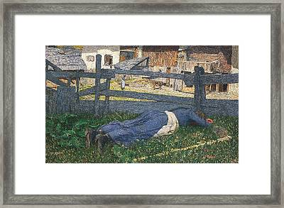 Resting In The Shade Framed Print by Giovanni Segantini