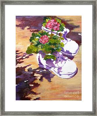 Resting In The Sun Framed Print by Betty M M   Wong