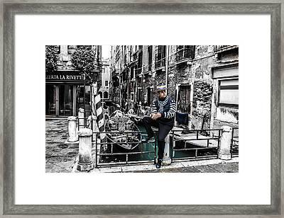 Resting In Venice  Framed Print by Steven  Taylor