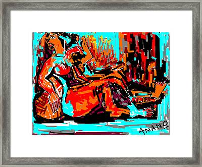 Resting Lady Framed Print by Anand Swaroop Manchiraju