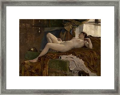 Resting Model Framed Print by Auguste Durst